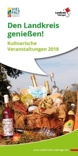 """2018 04 12 LkTue Brosch Landkreis genießen web titel """"Den Landkreis genießen""""    eine kulinarische Reise durch den Landkreis Tübingen und den Schönbuch"""