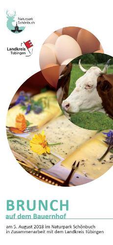 Brunch Flyer Brunch auf dem Bauernhof am 5. August im Naturpark Schönbuch