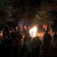 Lagerfeuer bei Waldweihnacht 2018