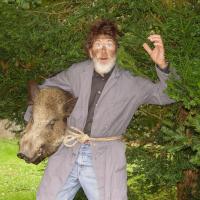Landschaftsführer Jan Bong verkleidet als Ranzenpuffer