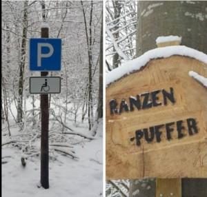 Barrierefreier Parkplatz im Schönbuch