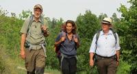 V.li.: Peter Wohlleben, Adele Neuhauser und Denis Scheck. © SWR/Encanto