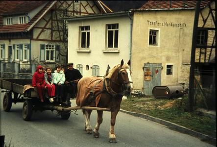 Pferdefuhrwerk in Gammertingen 1972 Das Schönbuchmuseum
