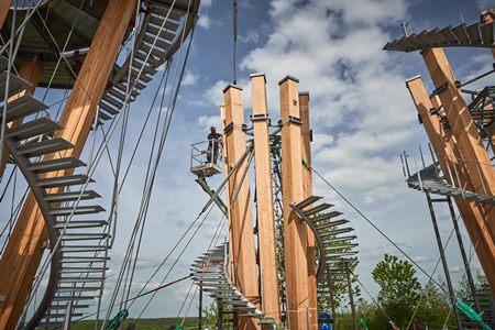 Schoenbuchturm Bau Ein neuer Blickfang im Schönbuch: Der Schönbuchturm