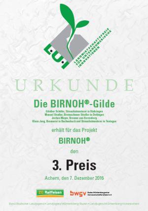 Urkunde300 BIRNOH – das geschmackvolle Original aus Baden Württemberg