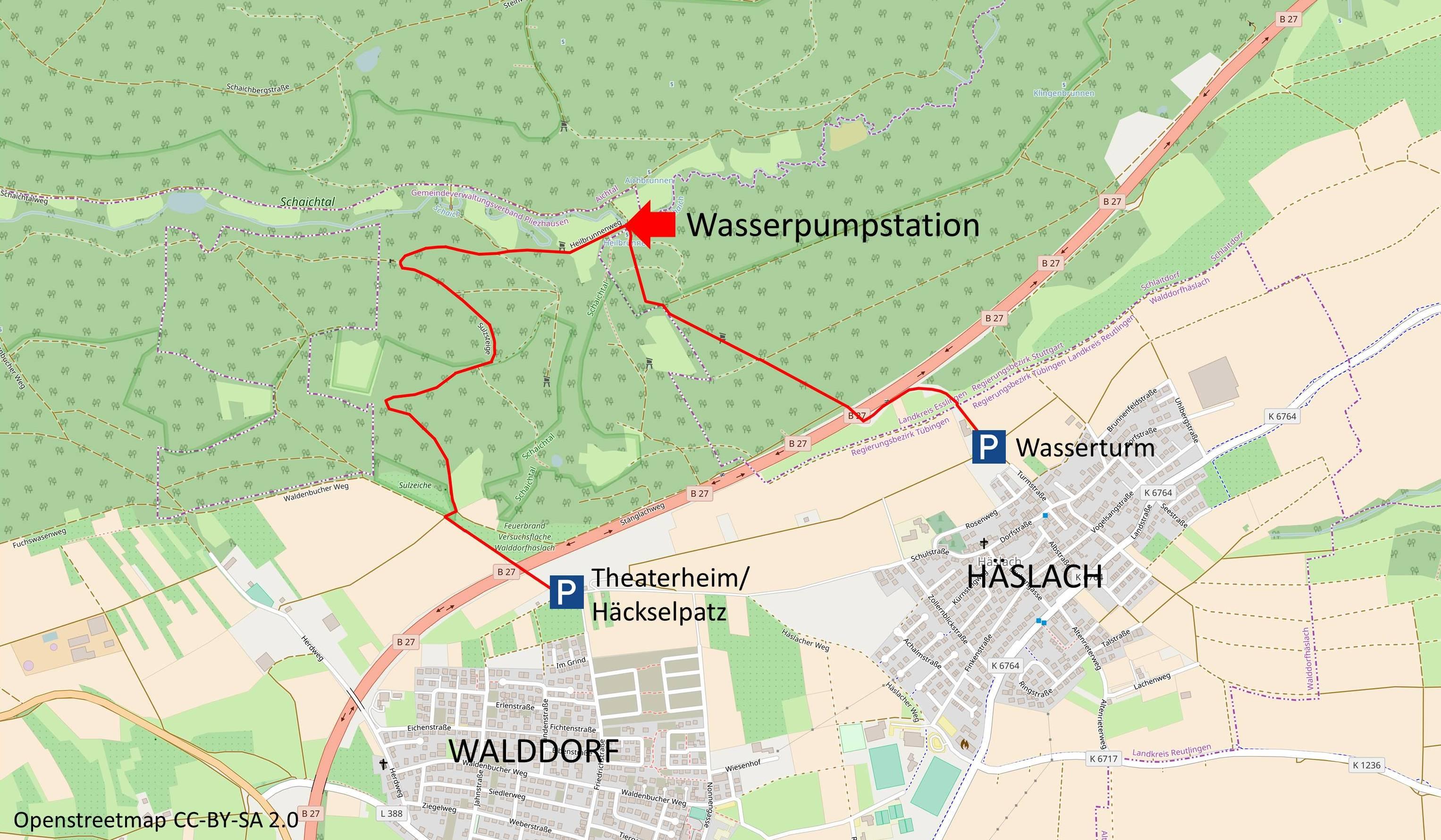 Wasserpumpstation Karte Projekt zur Erhaltung der historischen Wasserpumpstation im Schaichtal