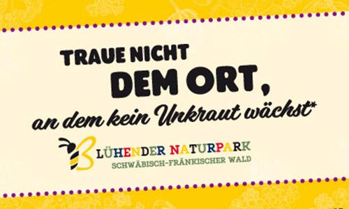 00 NPSFW Bluehender NP Postkarte Infoveranstaltung zum Blühenden Naturpark Forum Bienenweide