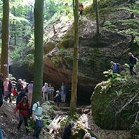 25 km-Wanderung mit den Naturparkführern Dr.  Manfred Krautter und Walter Hieber