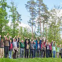 Immer in Aktion für Sie: die Naturparkführer Schwäbisch-Fränkischer Wald