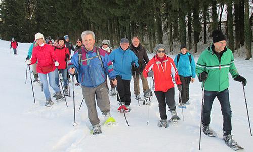 200209 NPaktiv Hieber1 Naturpark aktiv   Schneeschuhtour zu den Mühlen
