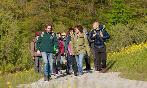 200902 BILD Herbst mit den Naturparkfuehrern Sanwald Mit den Naturparkführern wird der Herbst besonders bunt
