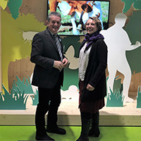 Naturpark Geschäftsführer Bernhard Drixler mit Projektmanagerin Laurel Kagels