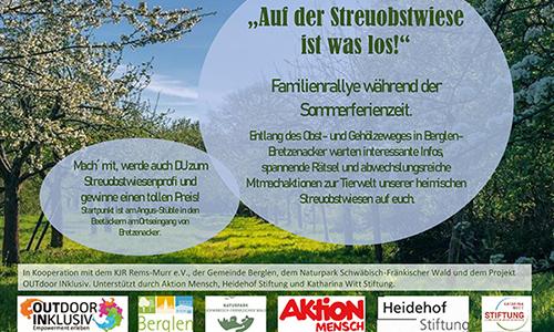 "2020 Berglen Rallye 2 Berglen Bretzenacker ""Auf der Streuobstwiese ist was los!"""