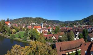 Panoramablick auf die Stadt Murrhardt