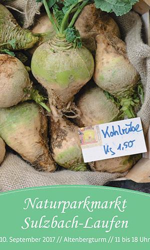 500 1709 NPM Sulzbach Laufen Titel Naturparkmarkt in Sulzbach Laufen