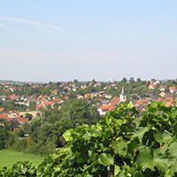 Blick über Michelbach am Weinberg