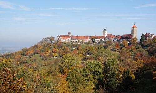 Blick auf Schloss Waldenburger Schloss des Fürsten zu Hohenlohe Waldenburg