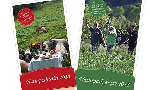 Broschueren18 Jahresbroschüren zum Wandern und Genießen