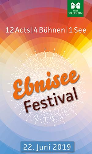 EbniseeFestival Flyer titel Ebnisee Festival: 1 See   12 Acts   4 Bühnen