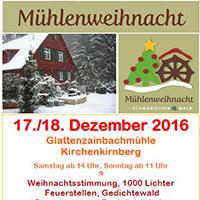 Mühlenweihnacht rund um die Glattenzainbachmühle