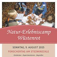 Natur-Erlebniscamp Wüstenrot Forschertag am Steinknickle