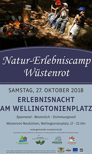 NEC Plakat 2018 Erlebnisnacht Natur Erlebniscamp in Wüstenrot