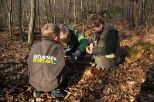Kinder können sich ausprobieren und die Natur selber entdecken im Naturpark