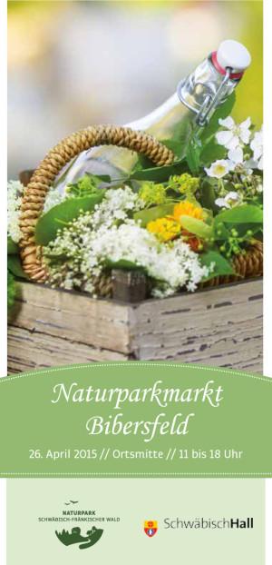 Titel Flyer NPM Bibersfeld 300x622 Erster Naturparkmarkt 2015 in Schwäbisch Hall Bibersfeld