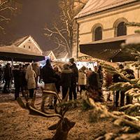 Welzheimer Weihnachtsdorf im bezaubernden Ambiente unter alten Bäumen
