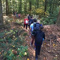Internationale Gruppe tourte mit Naturparkführer Peter Elsäßer in den Berglen