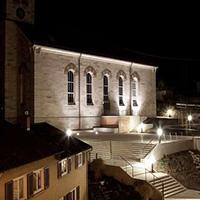 Spiegelberger Kirchplatz bei Nacht