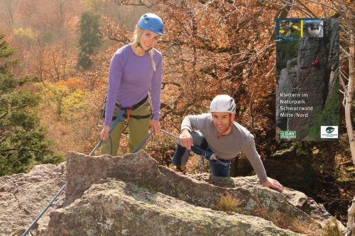 2018 11 19 Neue Kletterbroschüre DAV Klettervorführung 03a Artikelbild Klettern im Naturpark Schwarzwald Mitte/Nord