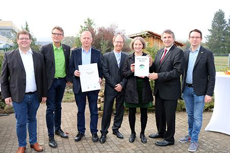 Gaggenau03 Erste weiterführende Naturpark Schule ausgezeichnet