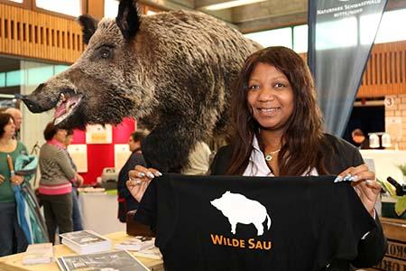 Messe051 Wilde Sau begeisterte Besucher der Naturpark Genuss Messe