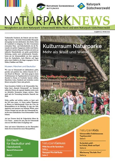 News Titel Neue Ausgabe der NaturparkNews