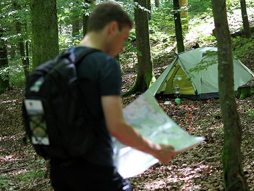 Trekking012 Eine Nacht im Wald stand hoch im Kurs