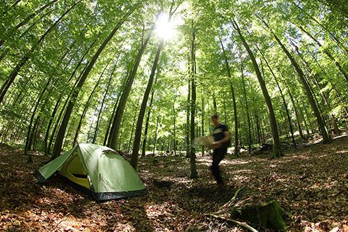 Trekking022 Eine Nacht im Wald stand hoch im Kurs