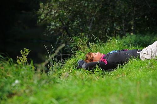 Entspannung auf der Wiese groß Shinrin Yoku   Waldbaden