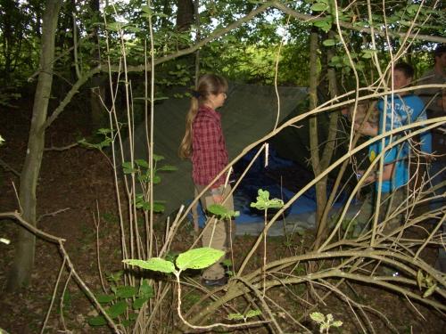 c Naturcamps Hunsrück Waldläuferhütte groß Wildlife für Familien