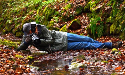 Björn Reibert Tiere des Spessarts   Foto Vernissage mit Björn Reibert