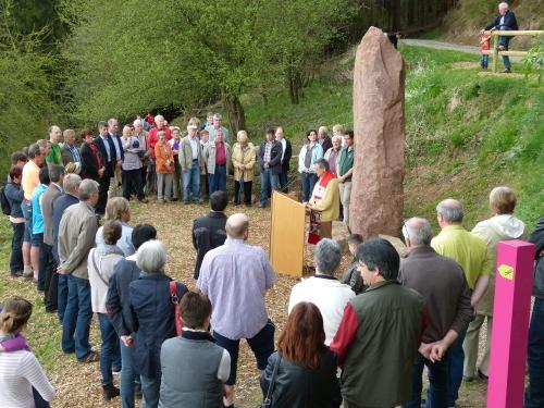 Einweihung Feuchtwiesenerlebnispfad Frammersbach Naturpark Spessart Erfolgreiche Eröffnung des Feuchtwiesen Erlebnispfads