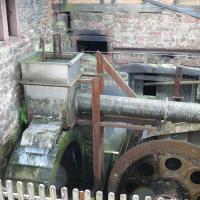 Wasserrad des Eisenhammers in Hasloch