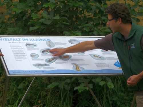 Kleintierschautafel Schautafeln und Binokulare für das Wassererlebnishaus in Rieneck