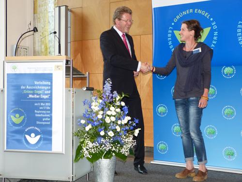 NP Spessart Verleihung Grüner Engel Berit Arendt: Zweiter Grüner Engel im Naturpark Spessart