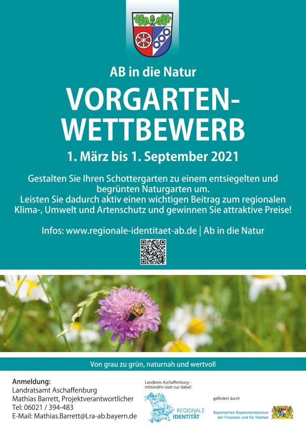 Plakat Vorgarten Wettbewerb 1 620x873 Vorgarten Wettbewerb des Landkreises Aschaffenburg