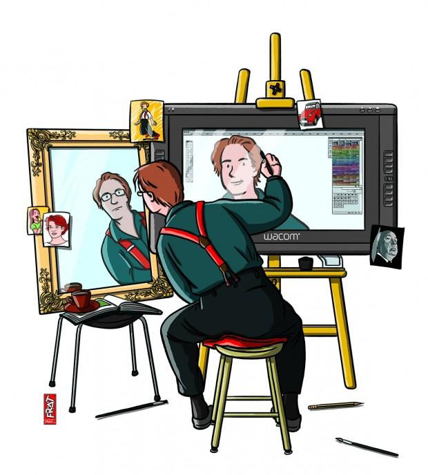 SelbstPortrait Farbe RZ 10 620x688 Frät ComicPopart