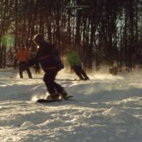 Snowboarder in Frammersbach (G. Anderlohr)