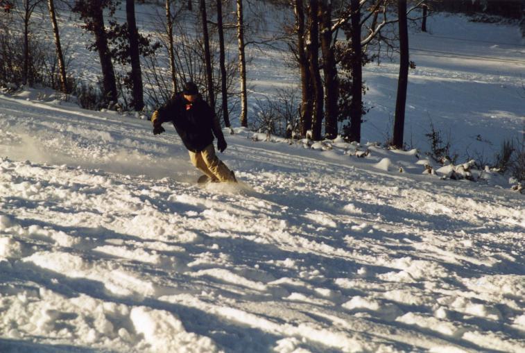 Snowboarder GAnderlohr Wintersport im Spessart