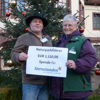 Sternstunden 200 200 Naturparkführer spenden 1.110,00 € an Sternstunden