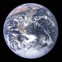 Erde von Apollo 17 aus gesehen